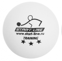Мячи настольный теннис Start-Line Training 3* NEW цв.белый 6шт/упак